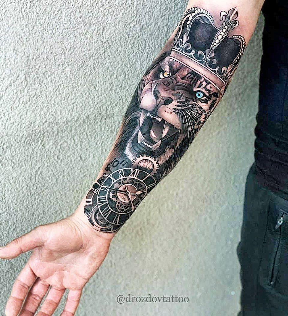 фото объемных татуировок на предплечье что вдоль жилых