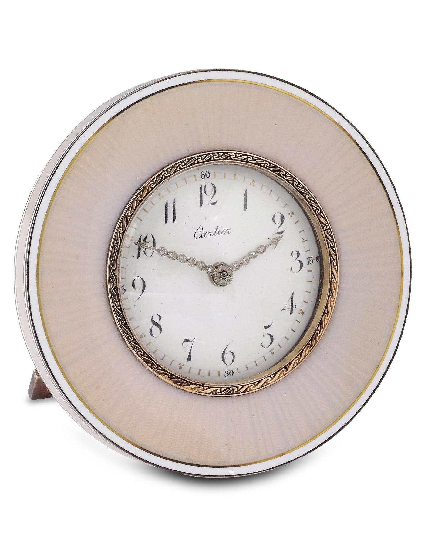 Cartier An Enamel Circular Desk Clock Circa 1910 Clocks In 2019