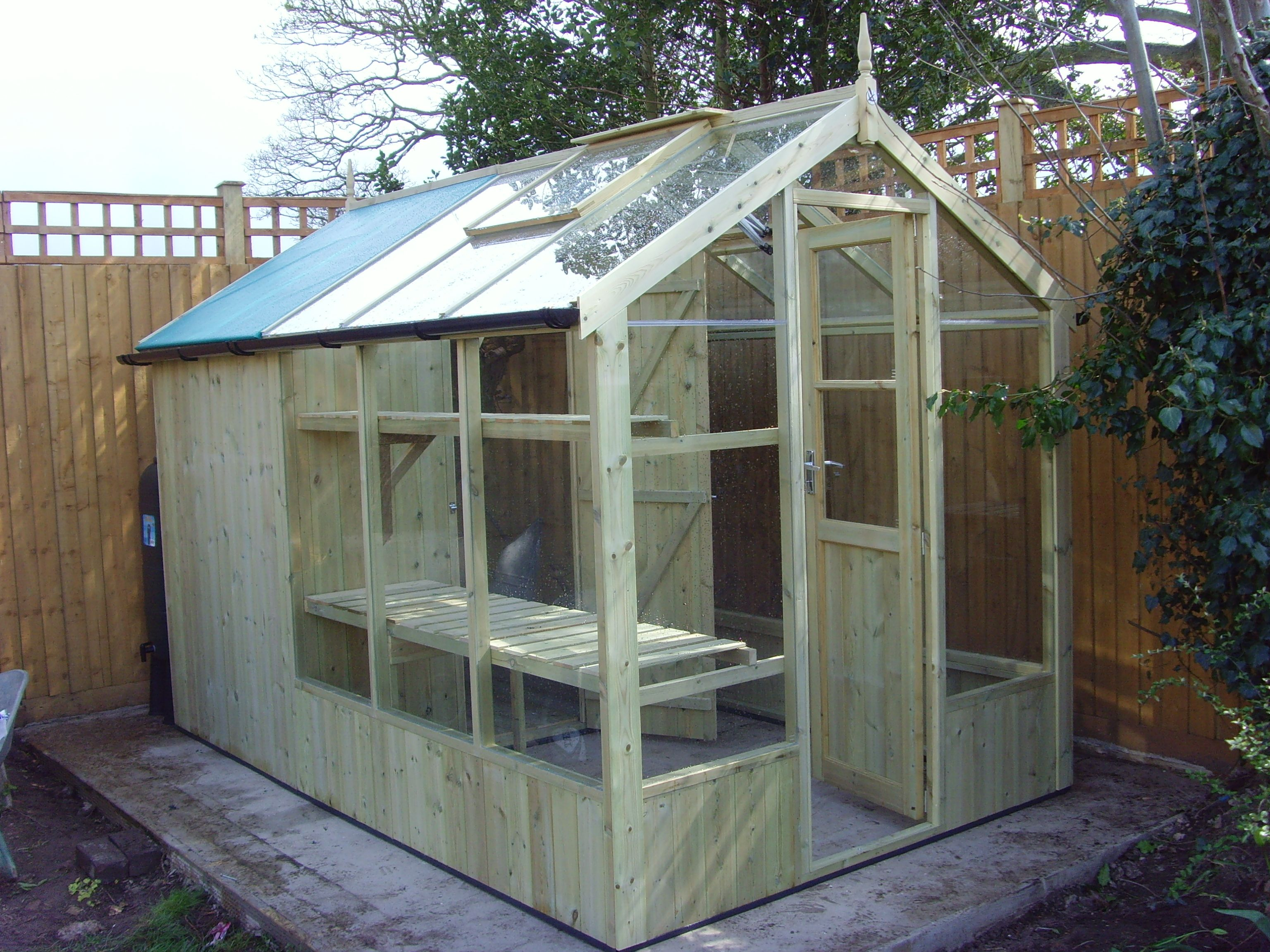 swallow kingfisher 6x6 wooden greenhouse - Garden Sheds Greenhouses Combined