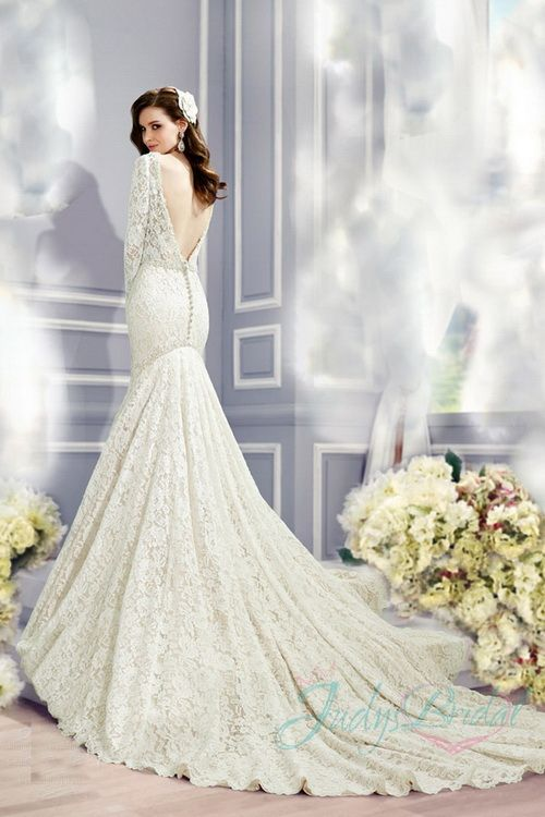 JW16047-sexy-open-back-all-lace-long-sleeves-mermaid-wedding-dress ...