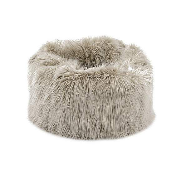 Skylar Mongolian Faux Fur Small Lounger Champagne in 2020