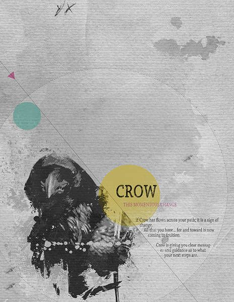 Crow_01 by beszteri   created using Sissy Sparrows' The Assignment - Animal Totems Visual Art Journal E-Course