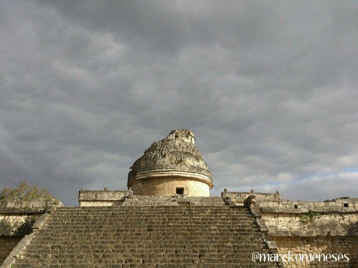 El Observatorio. Zona Arqueológica Maya de Chichén Itzá (Yucatán, México).