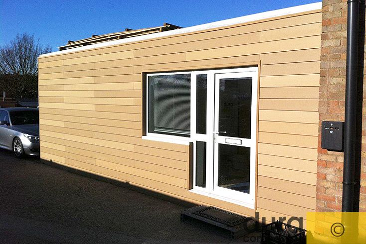 Attractive Wood Composite Cladding In Conjunction With External Wall Insulation