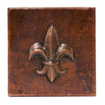 Premier Copper Copper Fleur De Lis Tile for stove backsplash