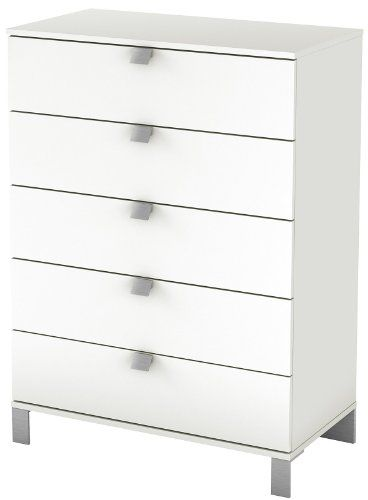 south shore spark collection 5 drawer chest pure white south shore