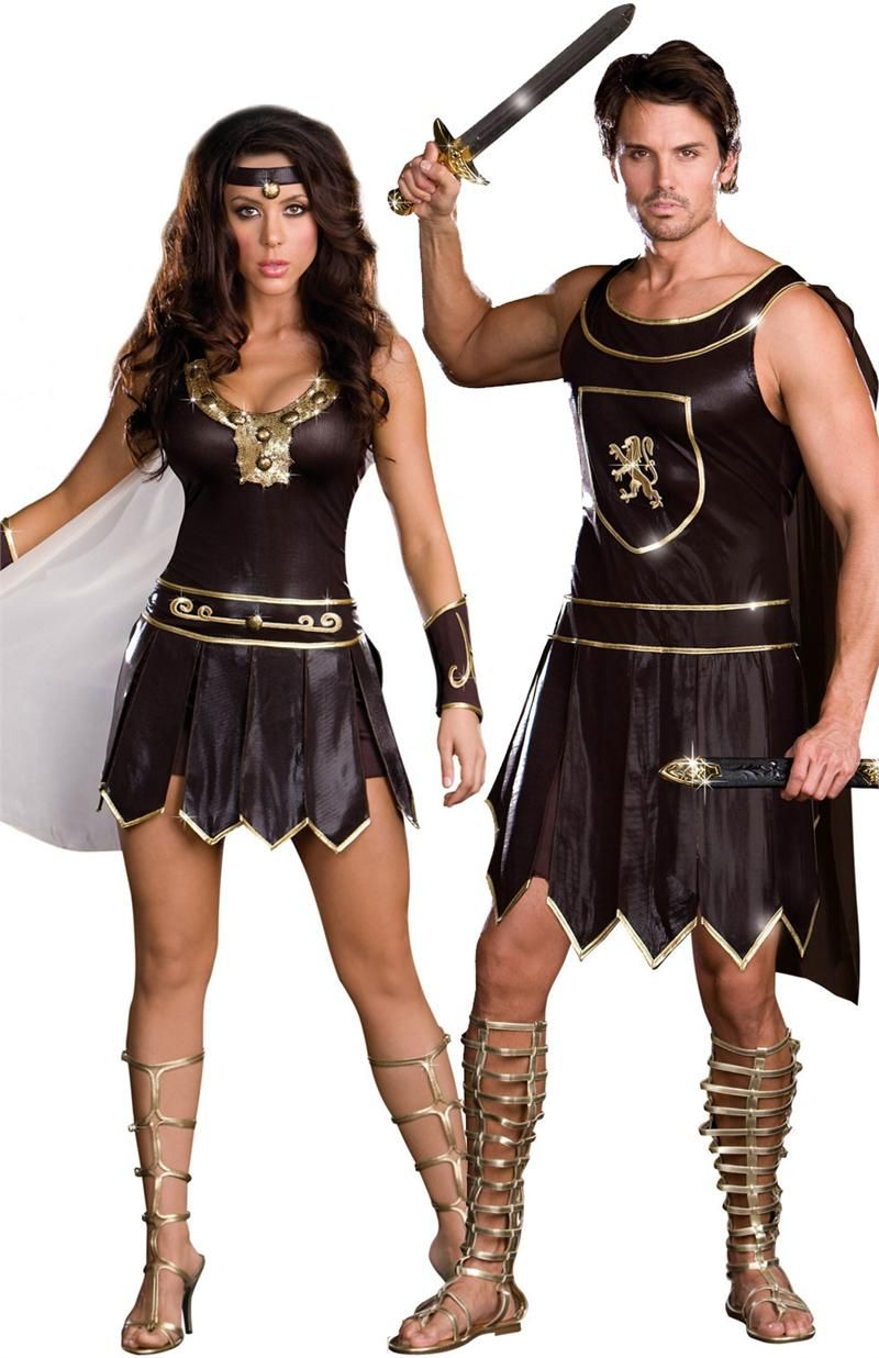 Couples Costumes. Warrior Couples Adult Costume online at Teezers ...