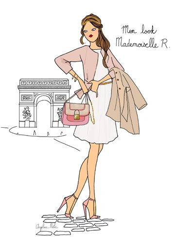 Look de la semaine les 10 must have styl s de la - Dessin parisienne ...