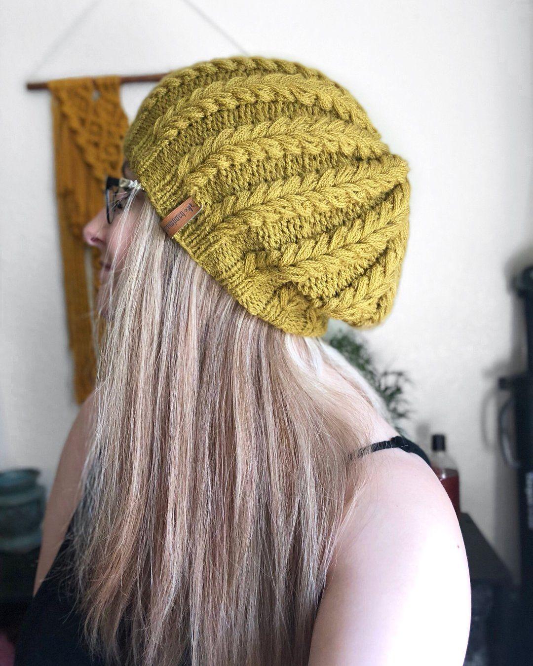 The Heart Ewe Bobble Beanie Knitting Pattern | Fish tail ...