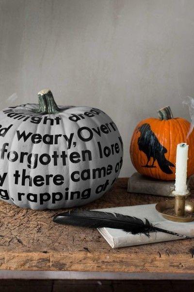 Wordy Pumpkin - 101 Fabulous Pumpkin Decorating Ideas - Photos - fun halloween decorating ideas