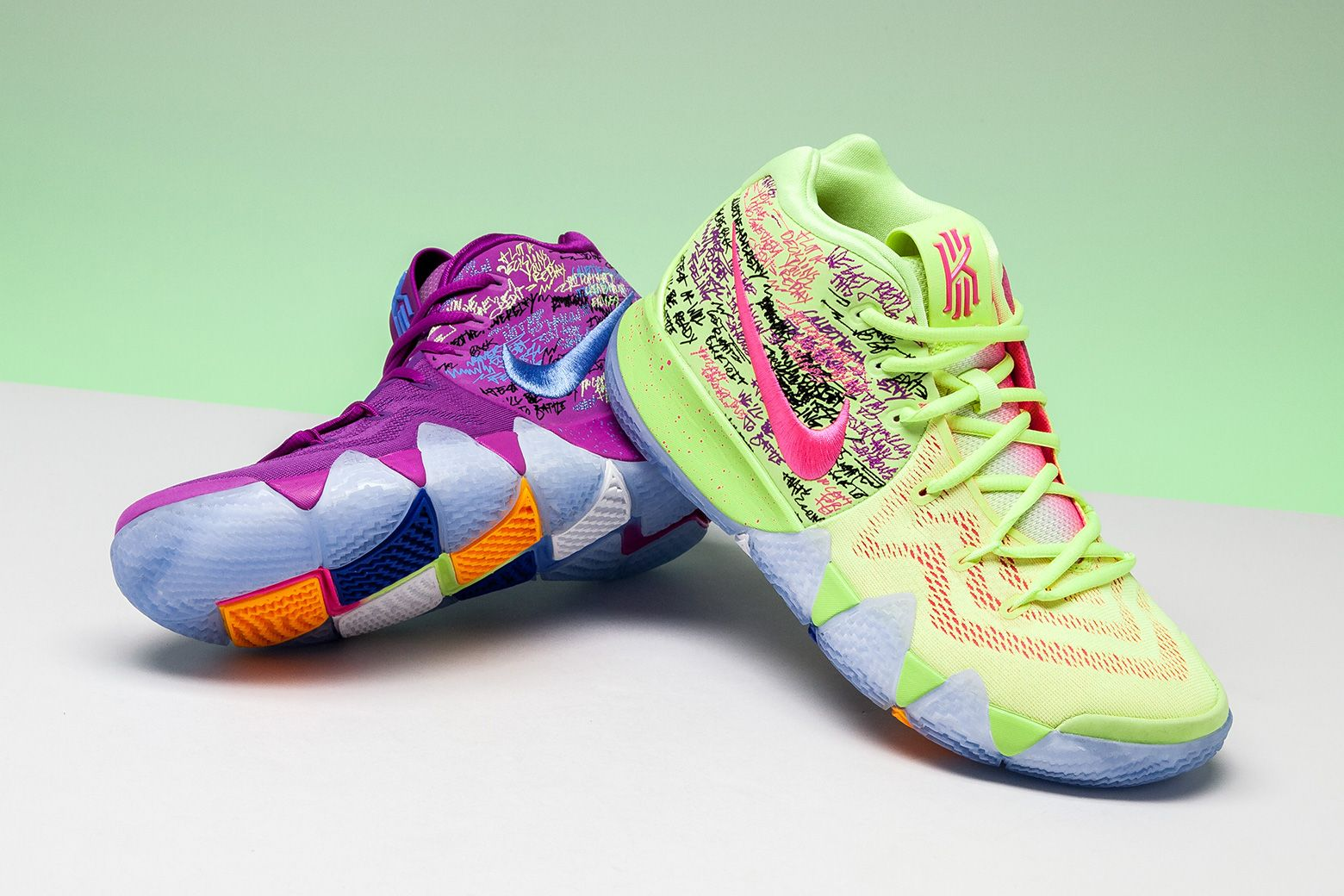 f66bd486399 Nike Kyrie 4 Multi Collegiate Orange  Confetti  in 2019