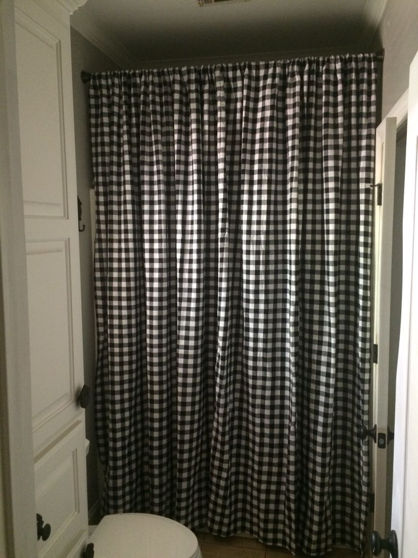 Boscov's Shower Curtains Black Buffalo Check Shower Curtain This Was Made Using 2 60x104