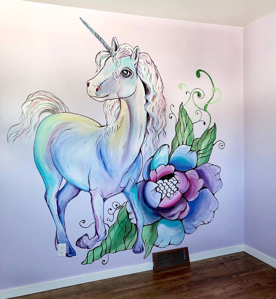 Unicorn Mural Unicorn Mural Unicorn Wall Mural Mural Unicorn bedroom wall decor