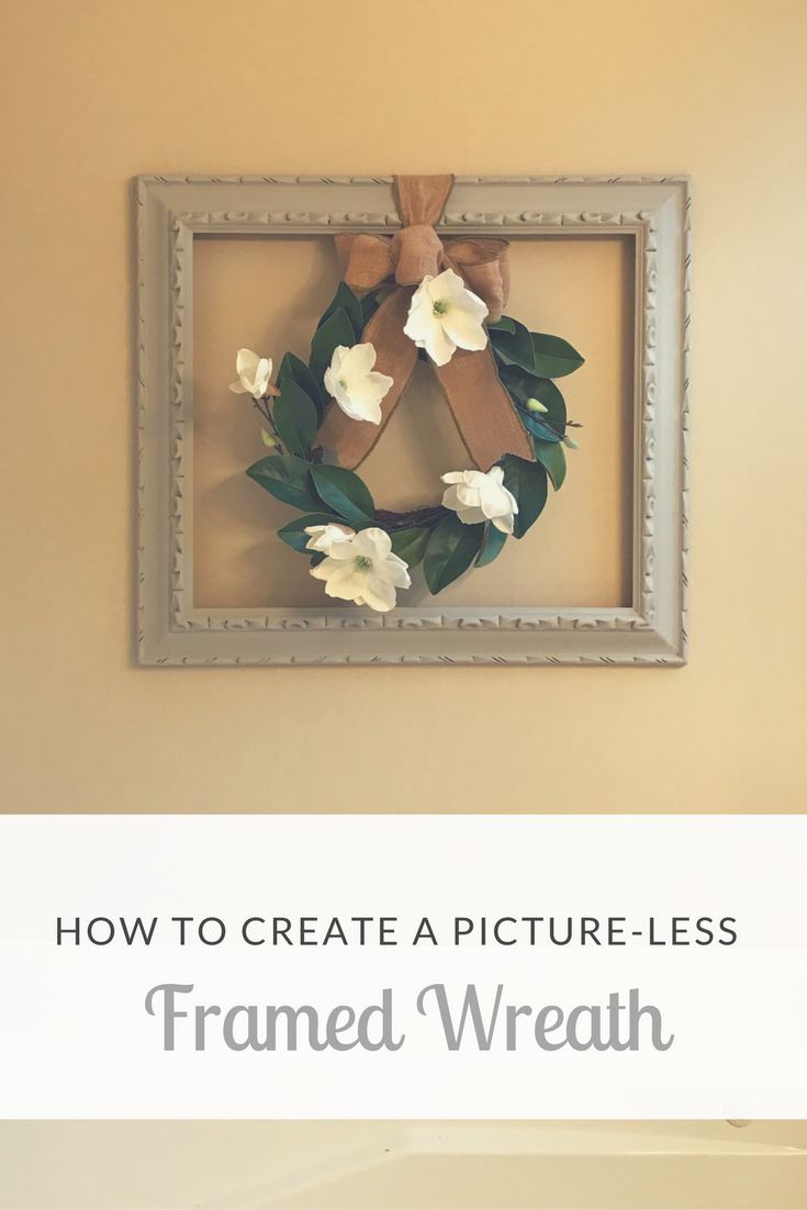 DIY: How to Create a Picture-less Framed Wreath-- Upcycle an old ...