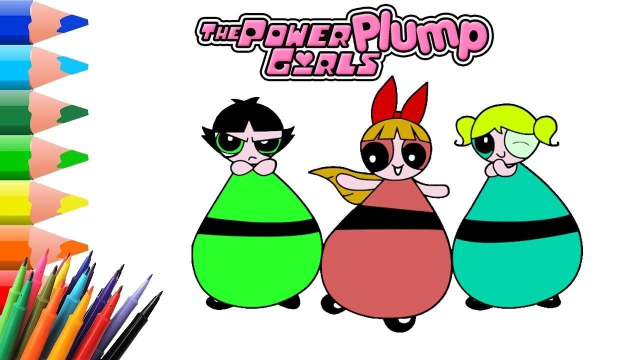 Powerpuff Girls Coloring Book | Fat Bloated Powerpuff … | Powerpuff ...
