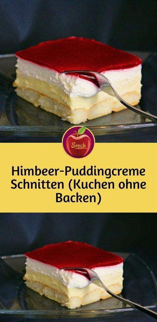 Photo of Himbeer-Puddingcreme Schnitten (Kuchen ohne Backen) – WordPress Website