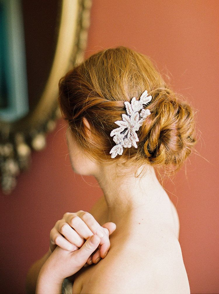 Red Hair don\'t care | Beautiful bridal updo with a one of a kind ...