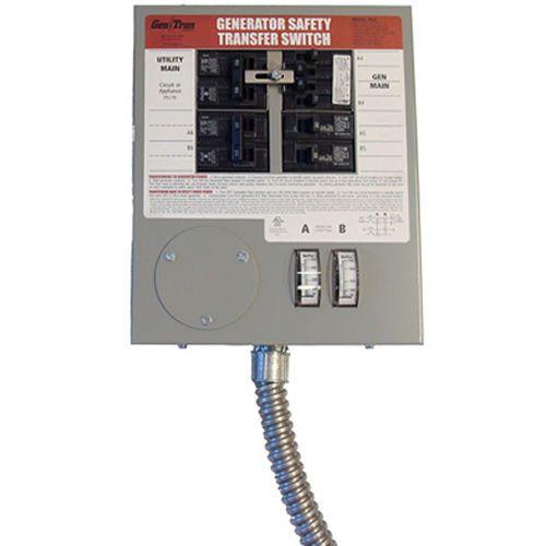 Generac 6376 6376 30 Amp Prewired Indoor Manual Transfer Switch 6 10 Circuits Transfer Switch Generator Transfer Switch Generation