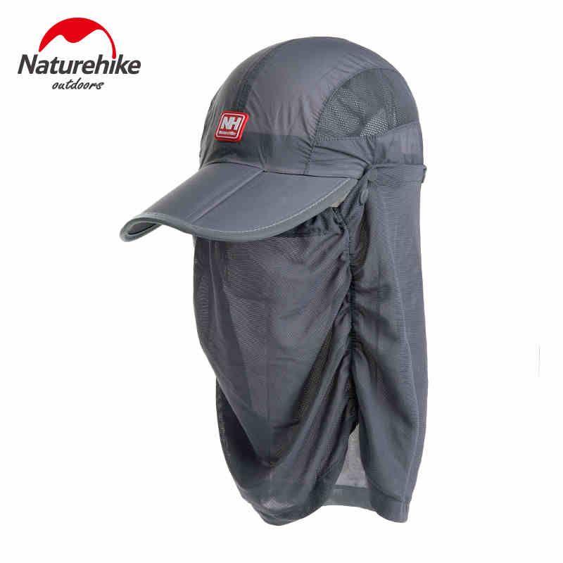 5c4becc2c45 Outdoor Fast Drying Round Sky Shade Sun Helmet Breathable Mask Bonnet  Folding Cap Sunbonnet Anti-UV Removable Cycling Summer