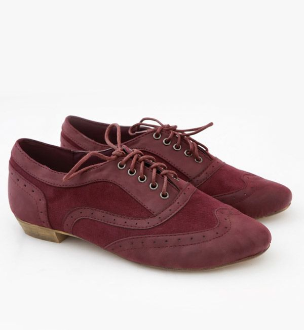 Maroon Suede Shoes for women