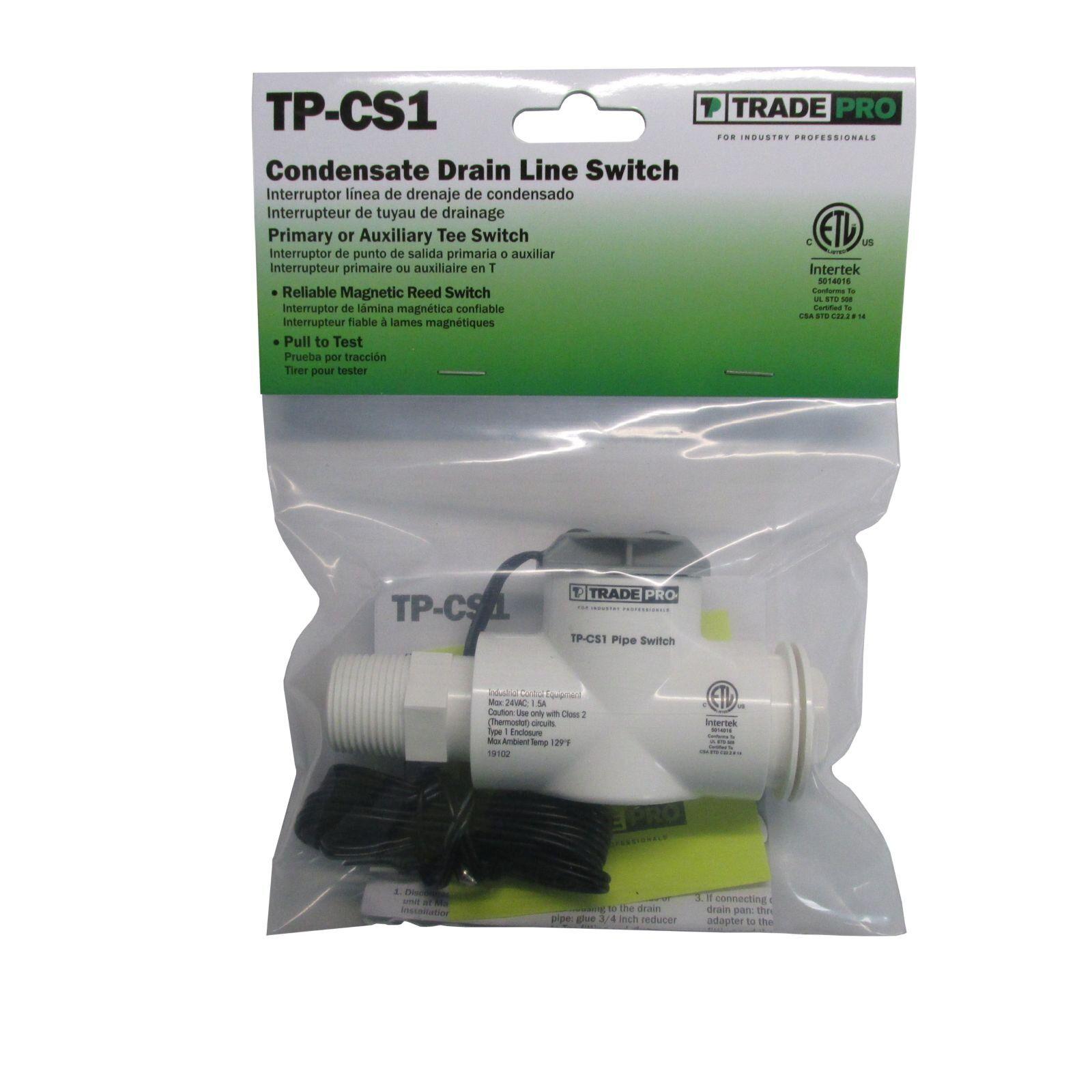 TRADEPRO® TPCS1 Condensate Drain Line Switch (Primary