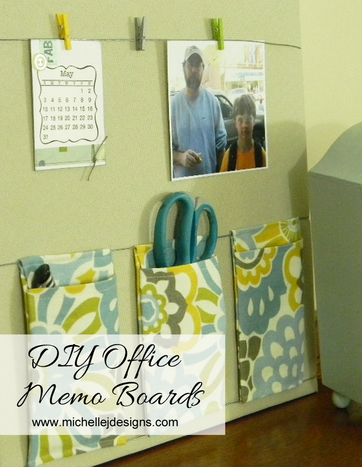 DIY Office Memo Boards :http://michellejdesigns.com/diy-office-memo-boards/