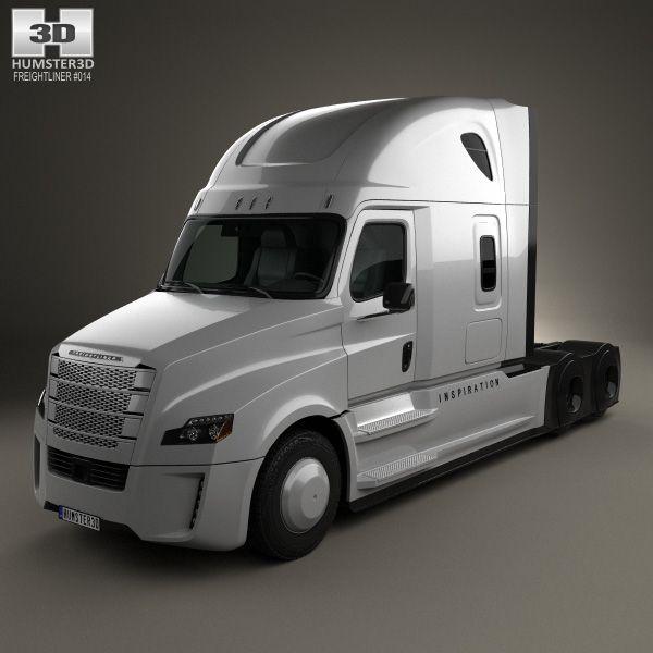 3d Model Of Freightliner Inspiration Tractor Truck 2015 Freightliner Freightliner Trucks Trucks