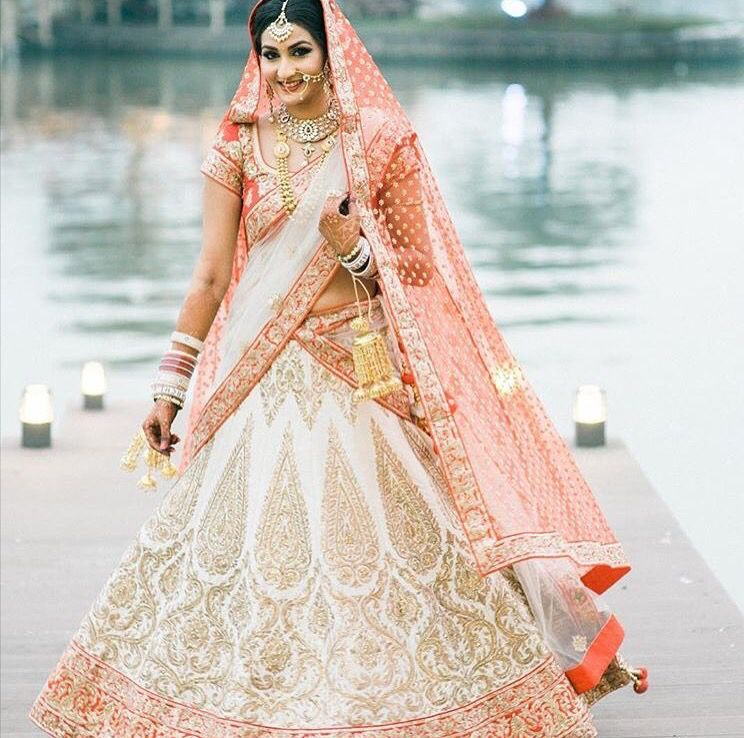 White Indian Wedding Dresses: Traditional Gujarati Wedding