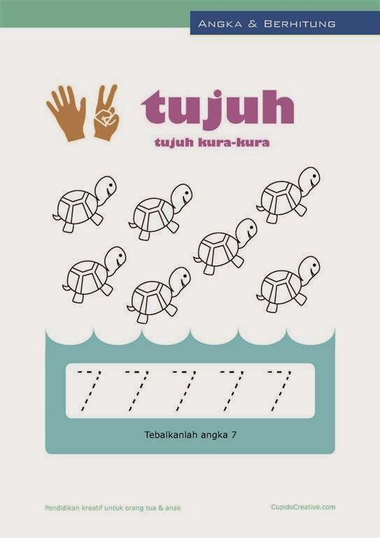 Belajar Angka Paud Anak Balita Tk Berhitung 1 10 Mewarnai