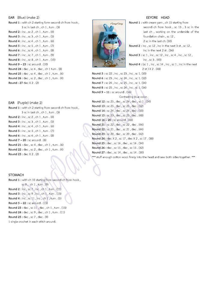 Croche e Pontos: Mochilas Infantis 15/9/16 | crochet | Pinterest ...