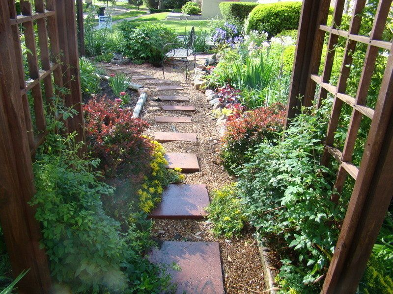 Front yard landscape design ideas with no grass access for No grass garden ideas