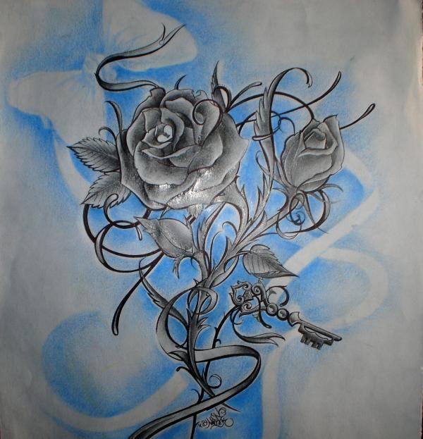 Rosas para dibujar de amor a lapiz en 3D - Imagui
