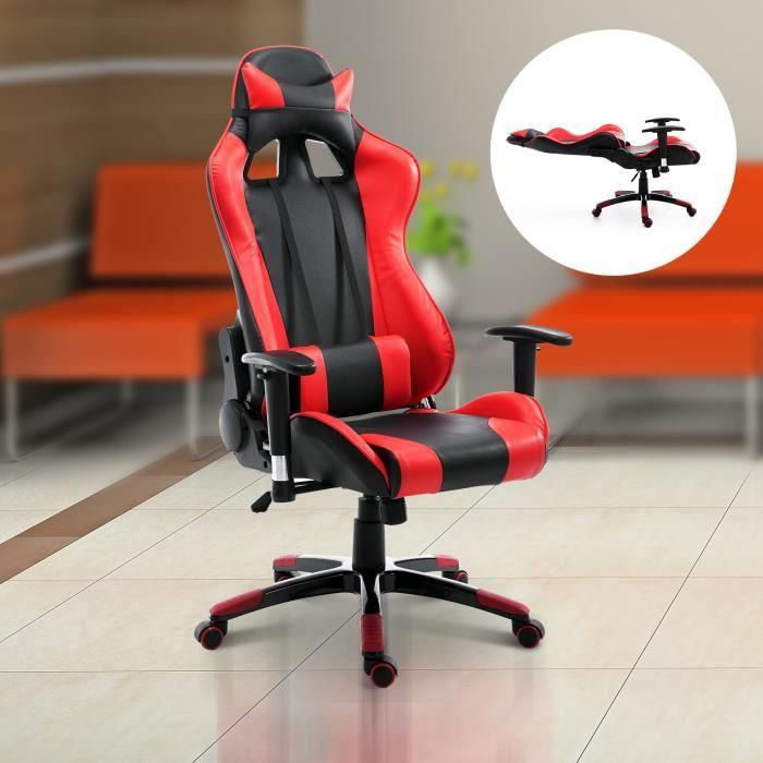 8cc9714a15ec9 Ce magnifique fauteuil de bureau style baquet Racing ajoutera une touche  d originalité et de