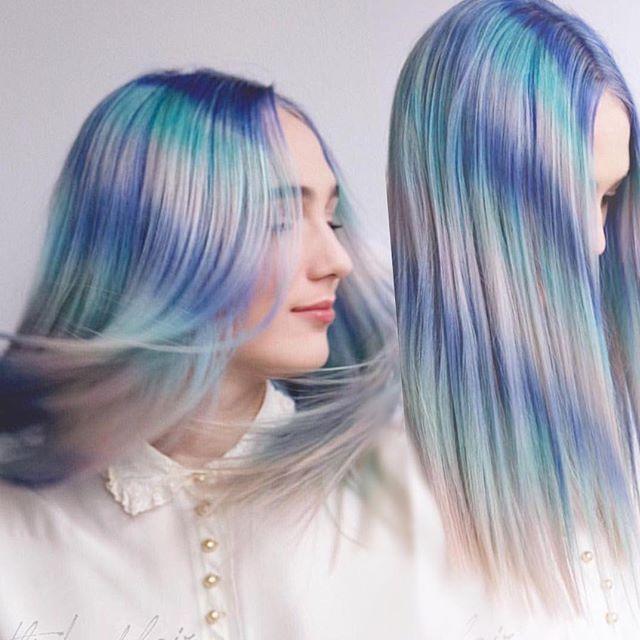 Feather Hair Color Hair Painting By Caitlin Ford Blue Hair Pink Hair