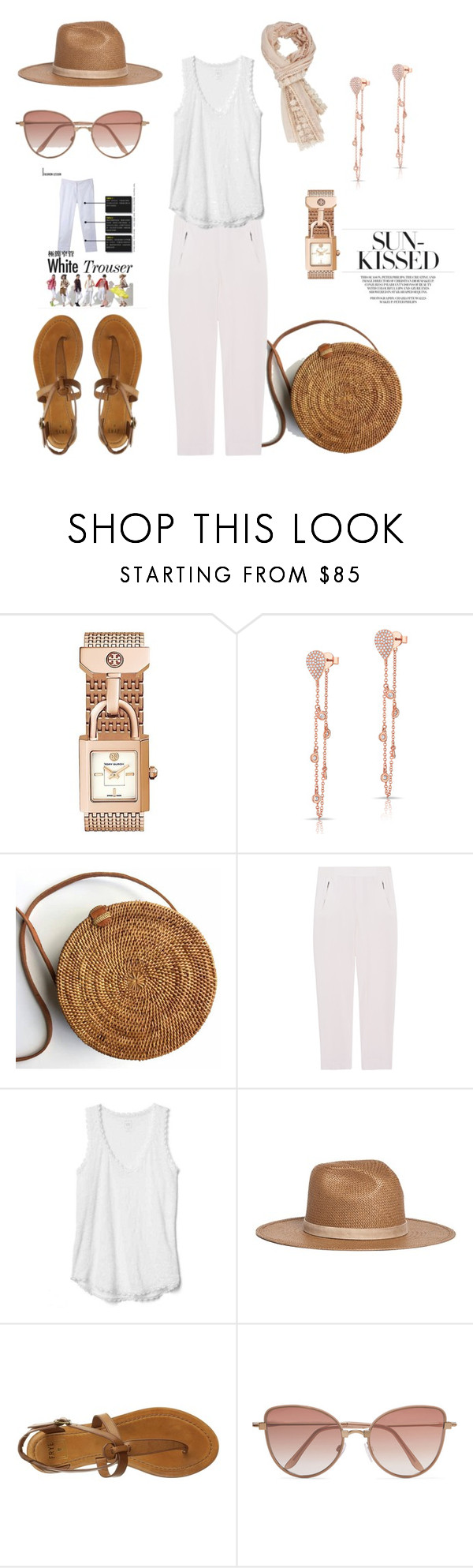 """""""Natural beauty"""" by closet-freak ❤ liked on Polyvore featuring Anne Sisteron, Steffen Schraut, Janessa Leone, Frye, Cutler and Gross, whitetrouser and WhiteCami"""