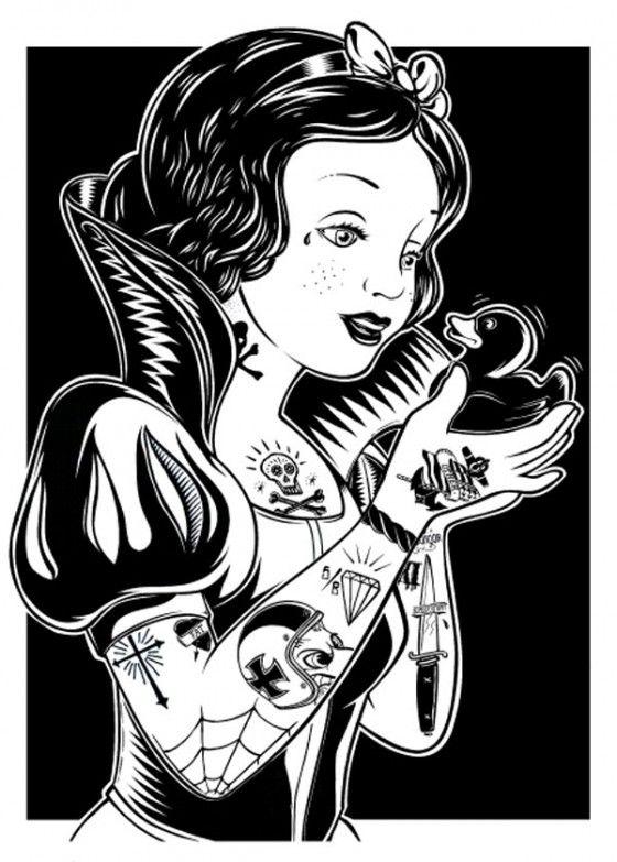 Superbacana Snow White Tattoos Art Punk Disney Princesses