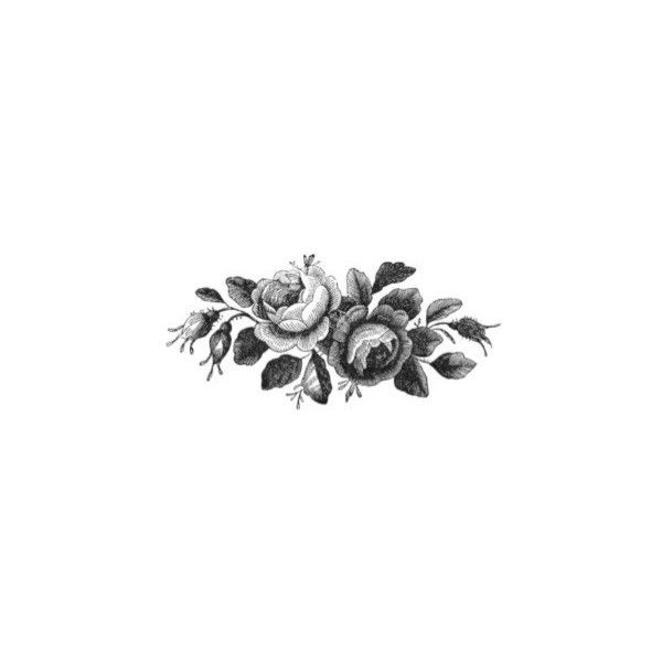 Vintage Black And White Roses Temporary Tattoo Vintage Rose Tattoos Black And White Roses Tattoos