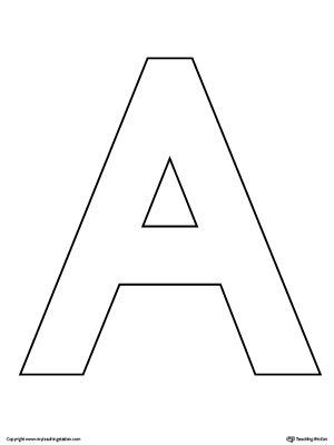 uppercase letter a template printable alphabet worksheets