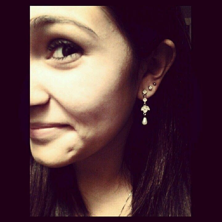 second third done piercings ears earrings