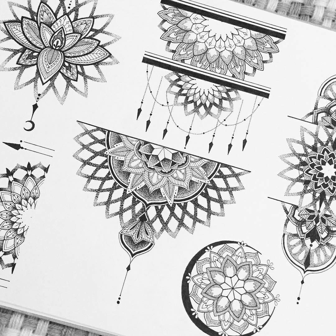 """Photo of @blxckmandalas on Instagram: """"beautiful flash designs by @calillustration ••• tag #blxckmandalas for a feature chance ••• support the artist @calillustration ••• #art…"""""""