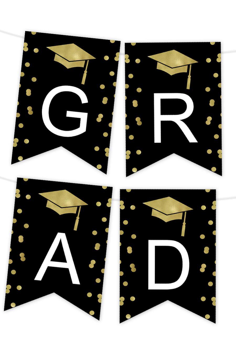 Confetti Graduation Printable Banner Printable Banner Make Your