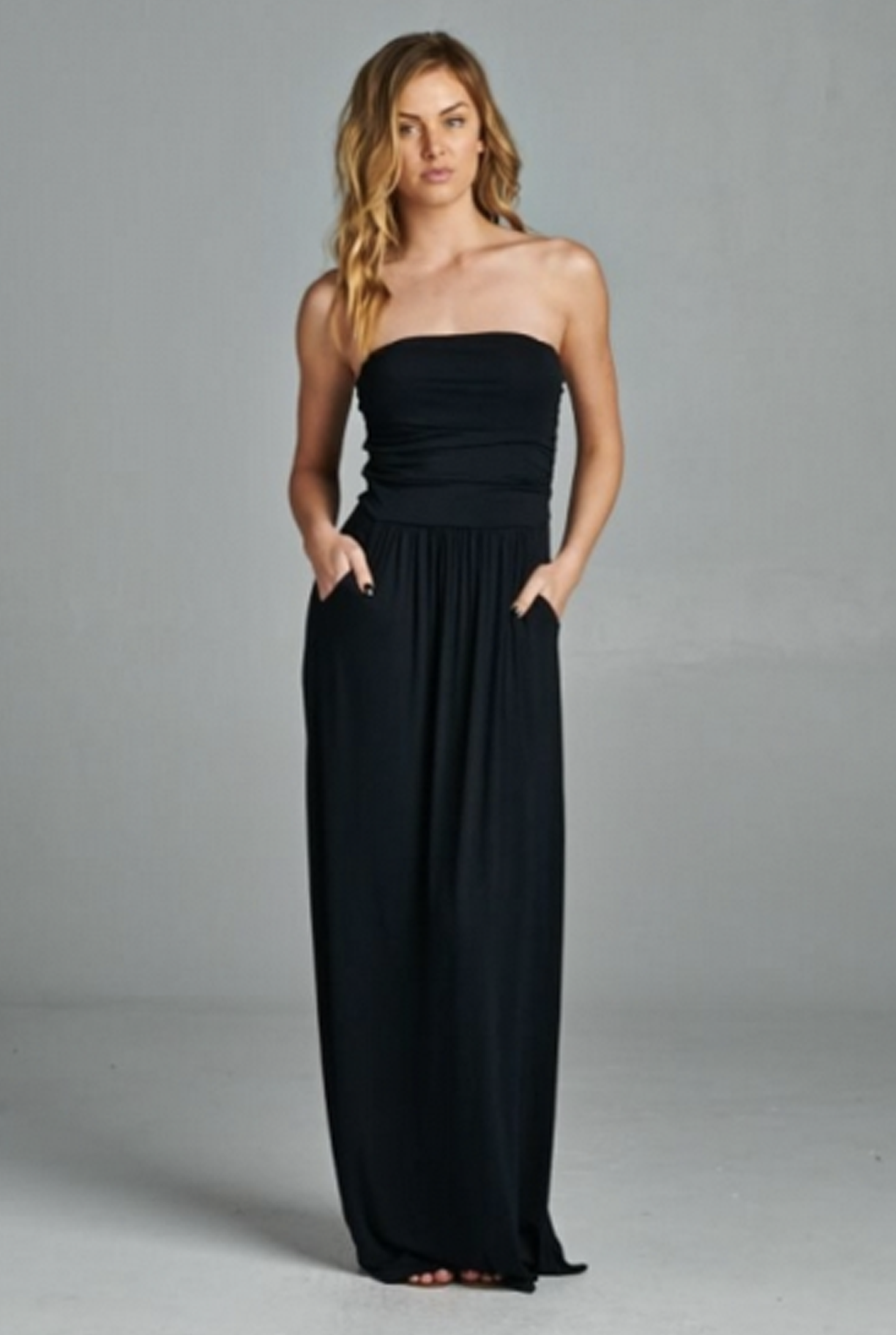 In The Moment Dress Black Strapless Maxi Dress Maxi Knit Dress Maxi Dress [ 1824 x 1224 Pixel ]