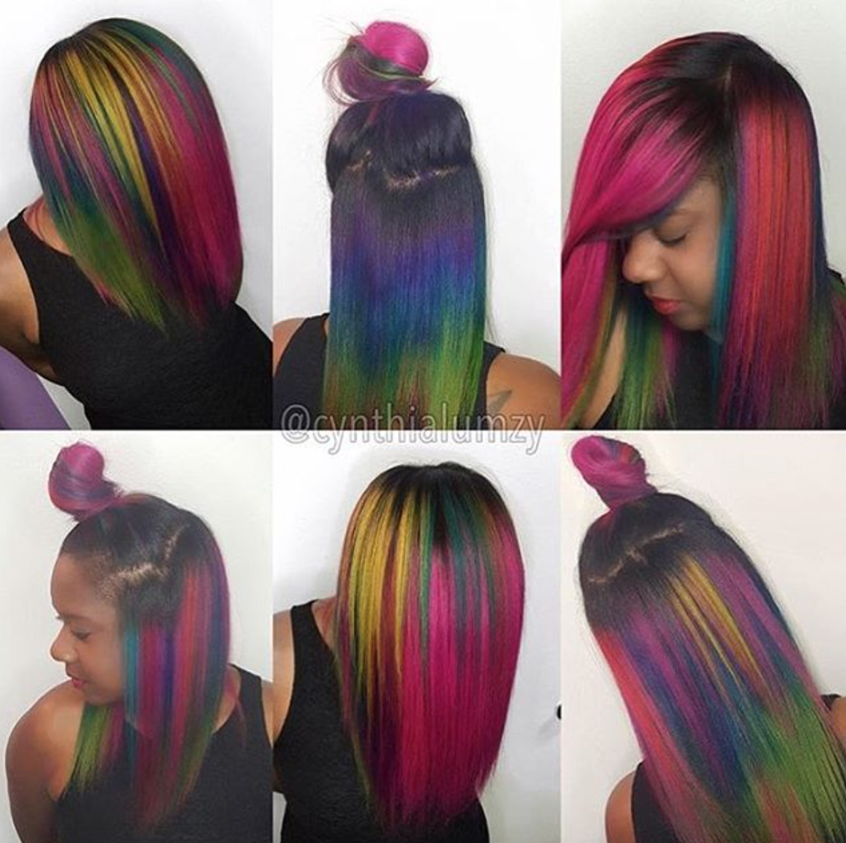 Image gallery mermaid hair - How Pretty Is This Mermaid Hair Color By A Different Look Look With Each Way She Parts It
