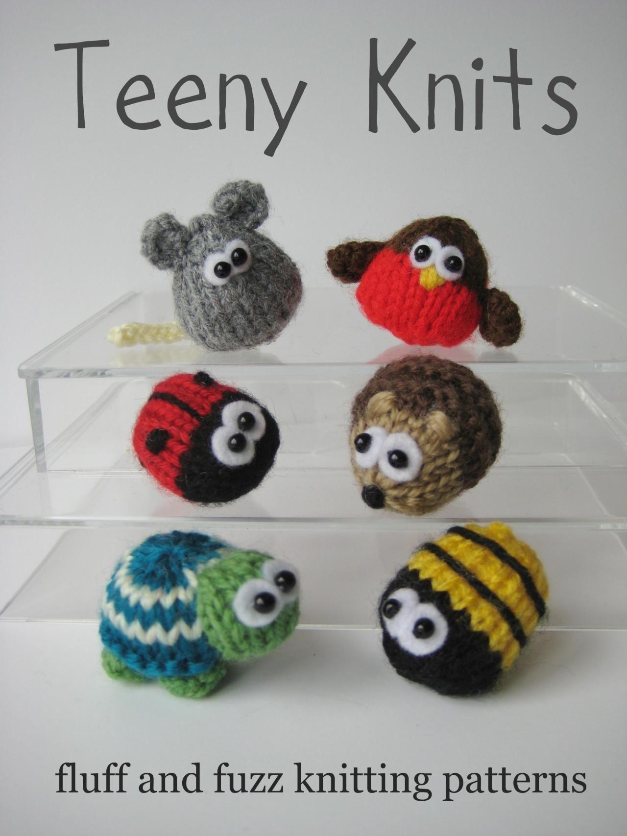Teeny Animal Knitting Patterns Cute Homemade Toys Pinterest