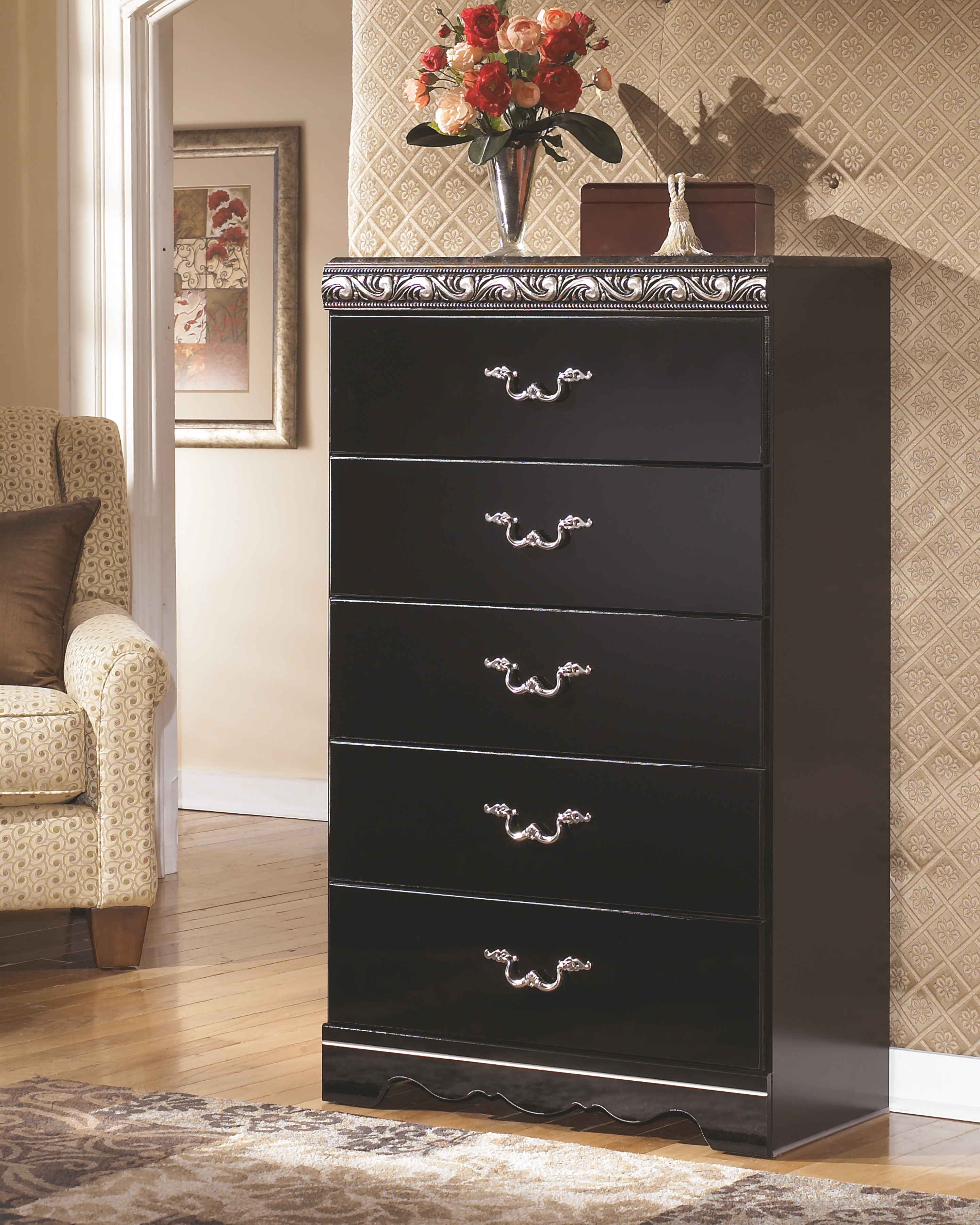 Constellations Chest Of Drawers Black Ashley Furniture Bedroom Sleigh Bedroom Set Ashley Furniture Outlet [ 3600 x 2880 Pixel ]