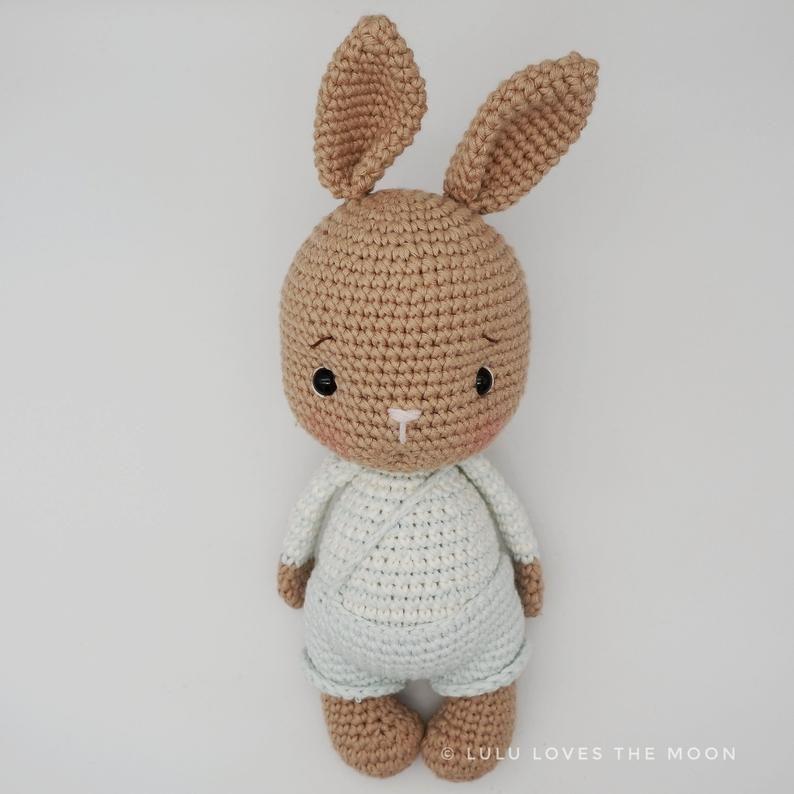 Crochet motif citrouille, motif crochet Bunny Pumpkin, allemand, anglais, patron francais, espanol, crochet, lapin, amigurumi, lapin câlin   – Häckeln
