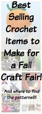 Best Selling Crochet Items For a Fall Craft Fair #craftsaleitems