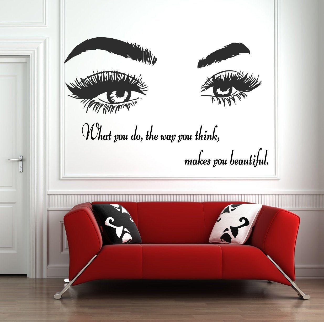 Eyelashes And Eyebrows Wall Decal