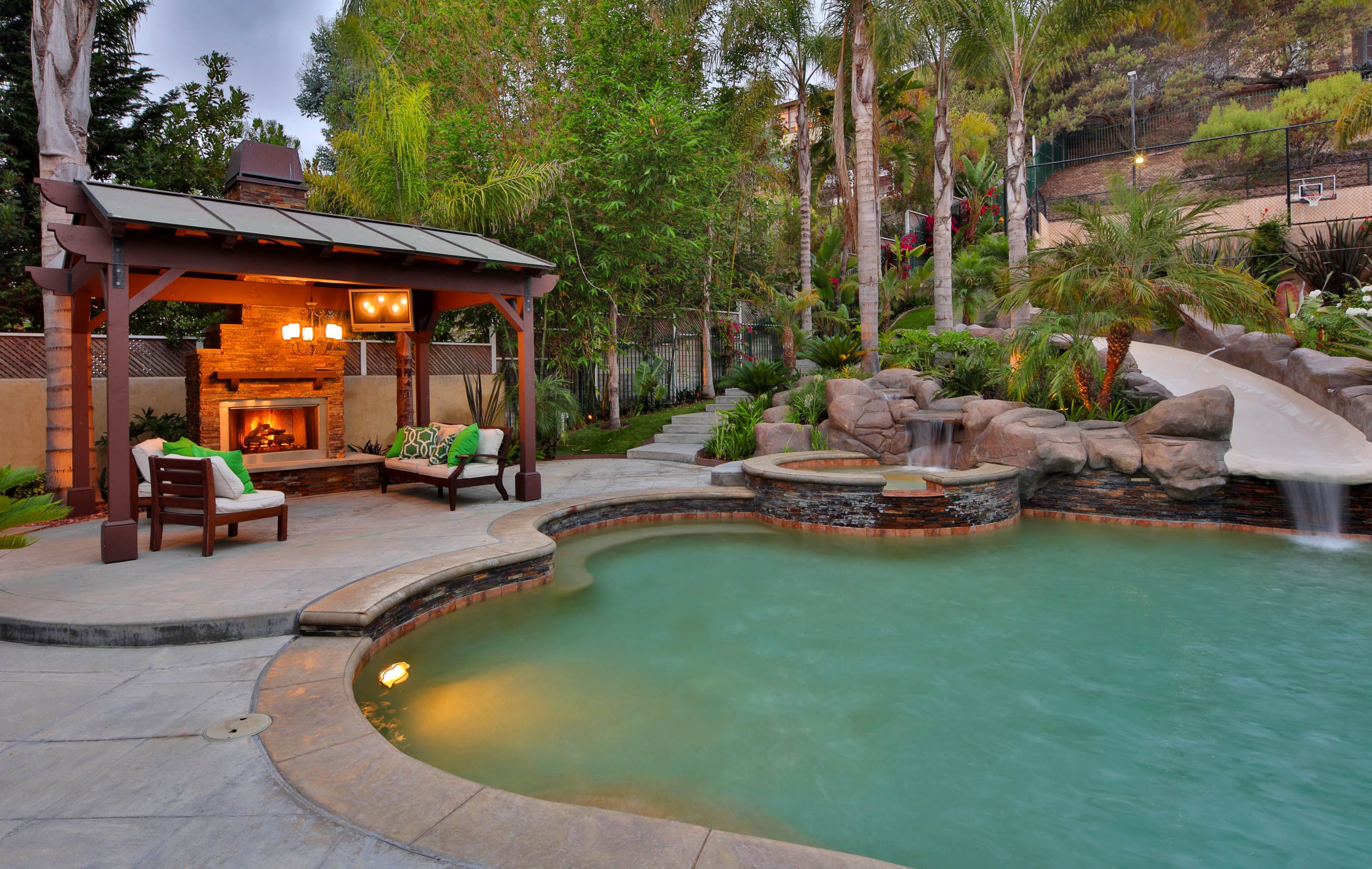 Luxury Home Pool With Slide Luxury Real Estate Marketing