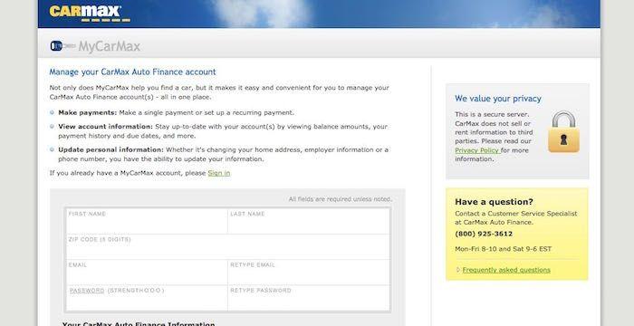 CarMax Bill Pay - Login to CarMax.com Online Payment ...